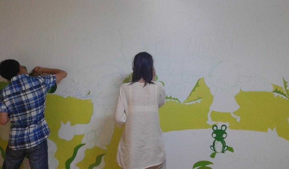 现场手绘墙面画