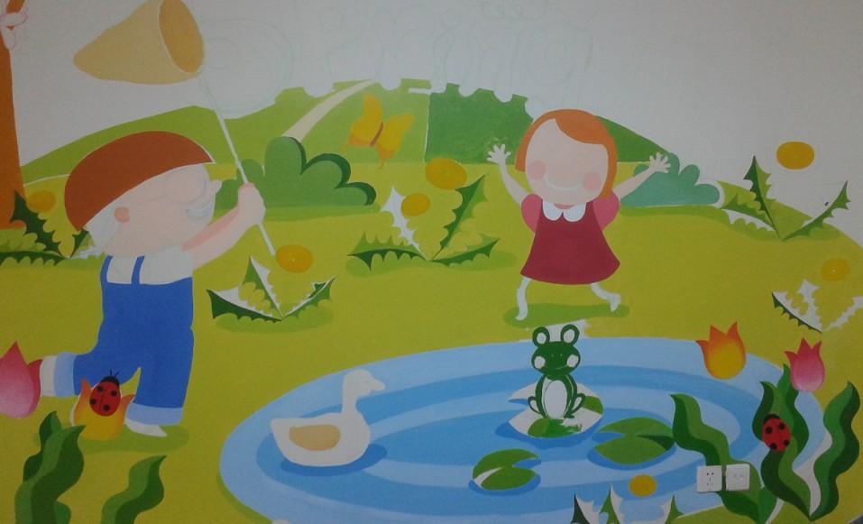 手绘墙面画,做为一种创意性的画