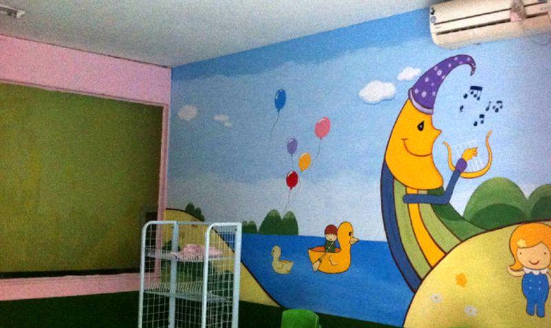 手绘墙画面