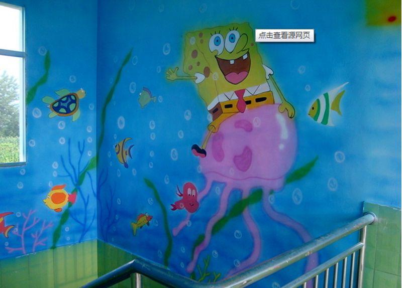 幼儿园建材 幼儿园墙体彩绘  我们配制的独特环保家具手绘颜料没有