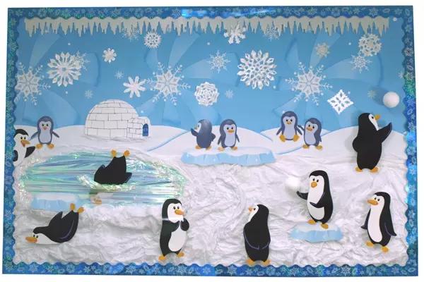 幼儿园冬季主题墙设计——和冰雪为伴