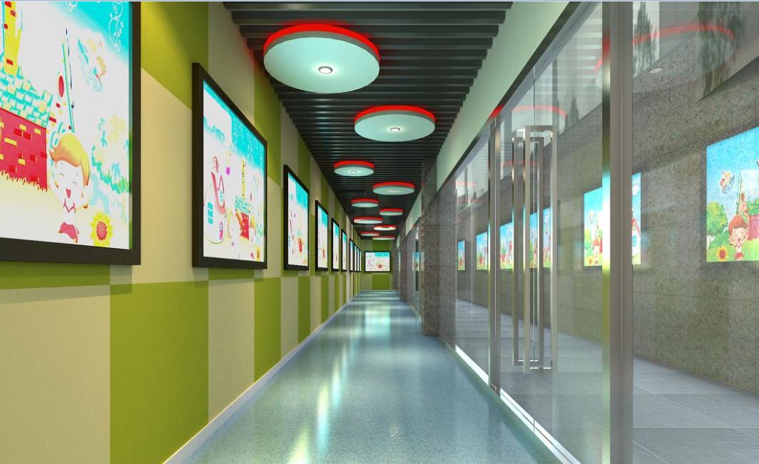 高档幼儿园走廊装修效果图