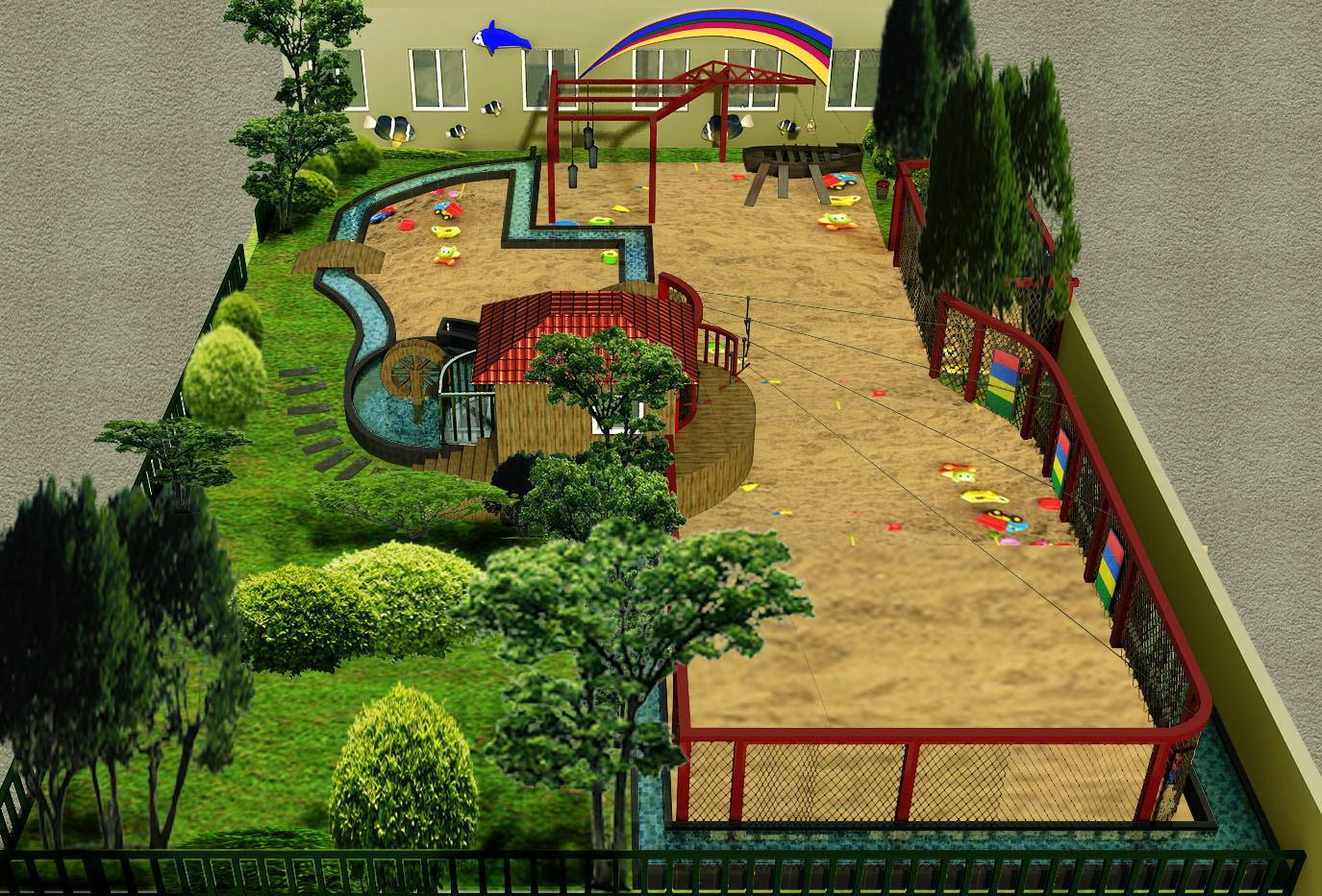 幼儿园户外环境设计平面图