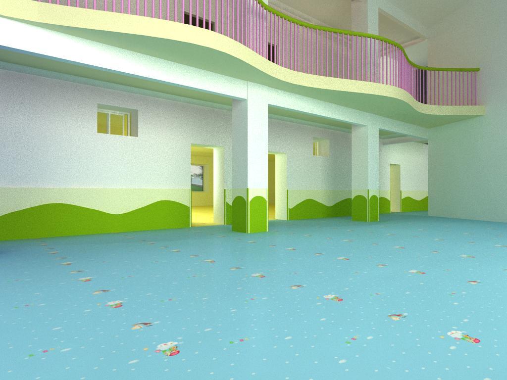 幼兒園室內鋪設pvc地板后的效果圖