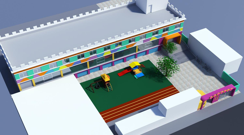幼儿园装修工程中外观整体设计效果图