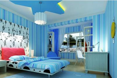 蓝色主题的儿童房装修效果图