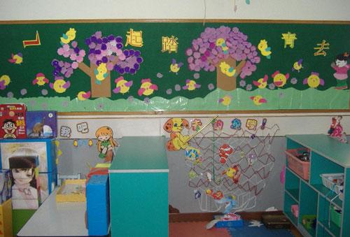 但这种作品展示类环境在幼儿园教育教学活动的小的现实意义.图片