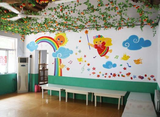 幼儿园墙绘壁画设计室内效果图