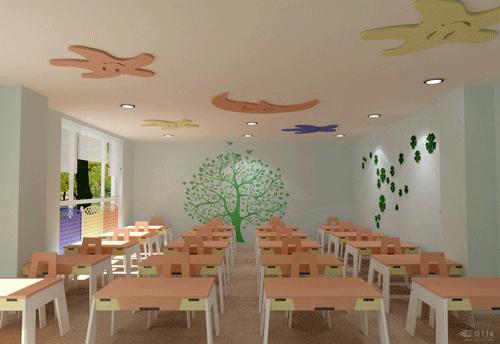 幼儿园墙面木材创新图片