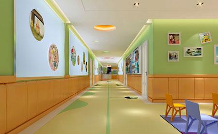 木线条等材料包住,在幼儿园中常用于走廊和多功能教室.