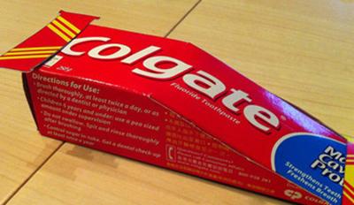 幼儿手工:牙膏盒制作小汽车