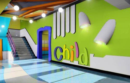 幼儿园走廊及楼梯的效果图