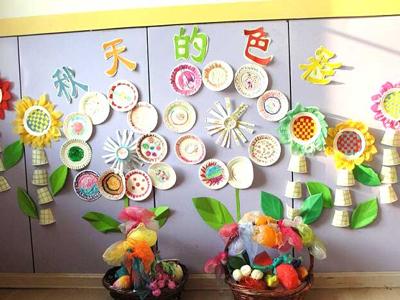 幼儿园墙饰设计三个类型图片